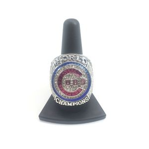 Chicago Cubs 2016 Championships Bryant Silver Ring